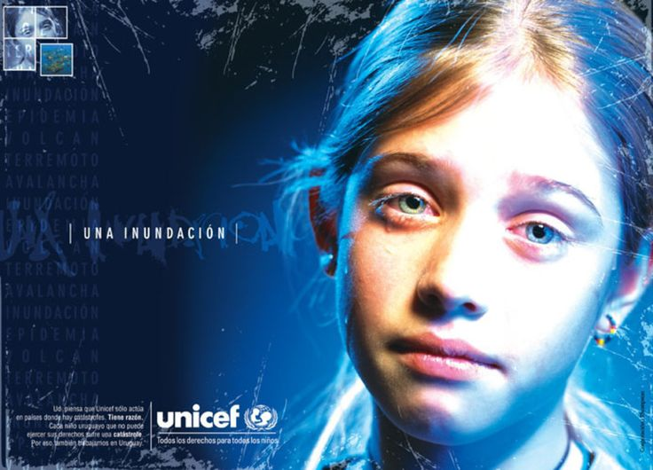 Read more: https://www.luerzersarchive.com/en/magazine/print-detail/unicef-21485.html Unicef A flood. Pay-off: Some people think that Unicef only works in countries where catastrophes take place. That´s right. Each Uruguayan child which can not practise his or her rights suffers a catasrophe. That´s why we also work in Uruguay - all rights for all children. Tags: Unicef,Corporation JWT (J. Walter Thompson), Montevideo,Sebastian Rubio,Laura Charpantier,Domino, Montevideo