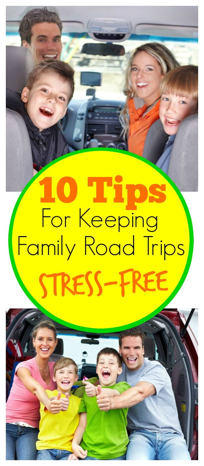 10 tips for keeping family road trips stress free