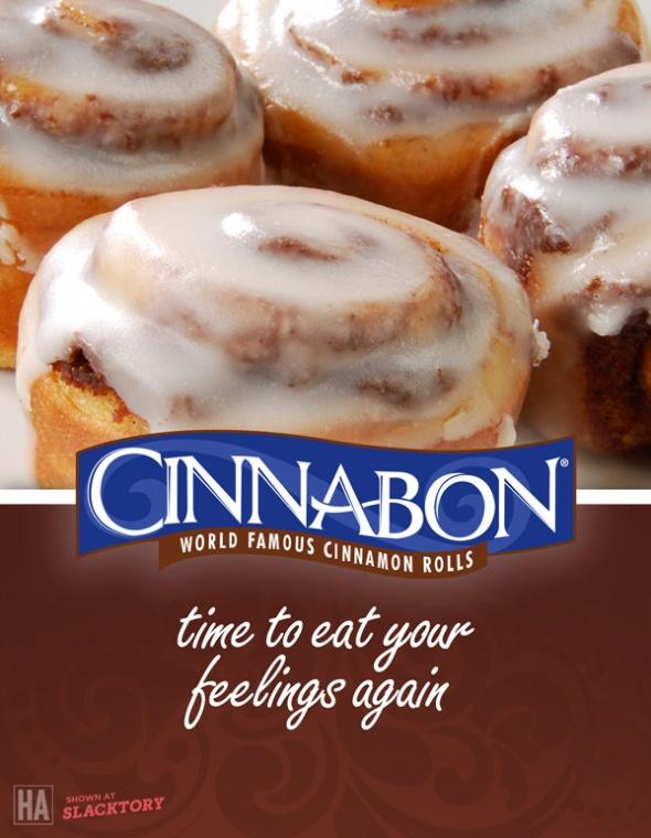 Cinnabon: Honest Ads Cinnabon Jpg, Free Minibon, Cinnamon Rolls, Food, Funny Stuff, Honest Advertising, Free Stuff, Minibon Cinnamon