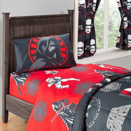 Star Wars Bedding Sheets for Kids & Adults Kids and adults alike will enjoy these Star Wars sheet sets on their beds!  There is a huge selection to choose from, too, so you get a different sheet set for every day of the week, if you wish. Fun characters from the Star Wars films are featured on