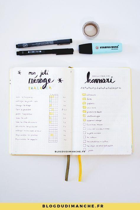 Des idées de pages pour s'organiser dans un Bullet Journal !