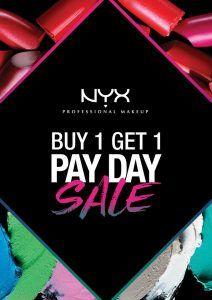 NYX Buy 1 Get 1 on June 30 2017