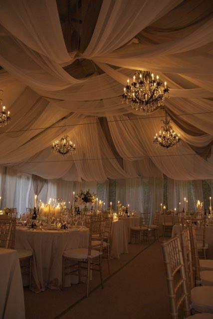 White tent wedding
