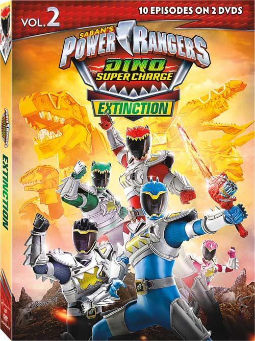 Power Rangers Dino Charge (AKA Power Rangers Dino Super Charge) - 'Season 2, Vol. 2: Extinction' DVD Announced