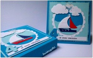 Urodzinowa kartka dla dzieci w pudełku .