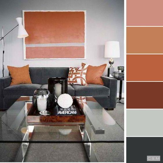 Gamas Y Esquemas De Colores Para Pintar La Sala Moderna Decoracion De Interiores Decoracion De Interiores Moderna Diseno De Interiores Salas