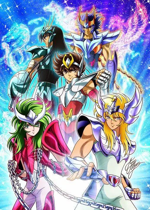 """Foto: Seiya,Hyoga,Ikki,Shun y Shiryu """"Los Caballeros de la Esperanza"""""""