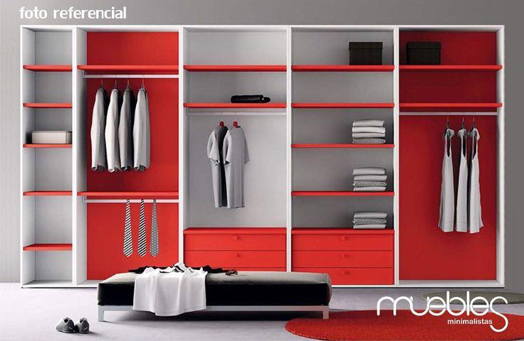 closet minimalista modular fabricado en mdf crudo de 18mm