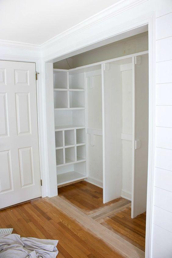 Replacing Bi Fold Closet Doors With Curtains: Our Closet Makeover