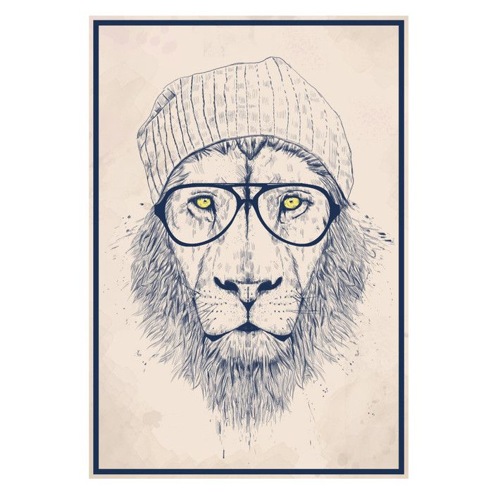 You'll love the Cool Hipster Lion Wall Decal at Wayfair - Great Deals on all Décor  products with Free Shipping on most stuff, even the big stuff.