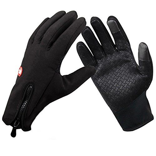 Kmover windproof gloves climbing gloves nonslip cycling gloves touchscreen gloves Thermal Leisure Camping Thermal Gloves Black Large * You can find out more details at the link of the image.(This is an Amazon affiliate link)