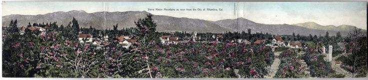 Sierra Madre mountains from city of Alhambra California