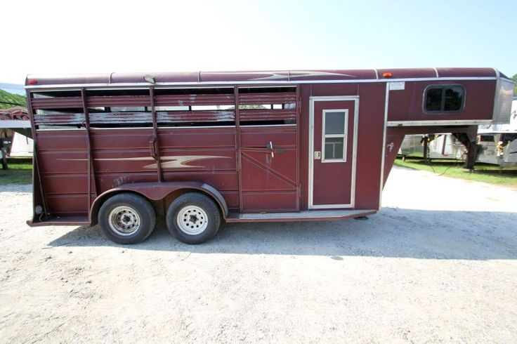 #37461 - Used 2006 Ponderosa 16' Stock DR Stock Trailer  with 4' Short Wall