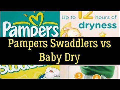 Pampers Swaddlers vs Baby Dry - Which Is The Most Absorbent Diaper?
