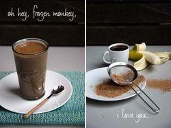 'Frozen Monkey' Coffee Chocolate Banana Smoothie | Serious Eats : Recipes