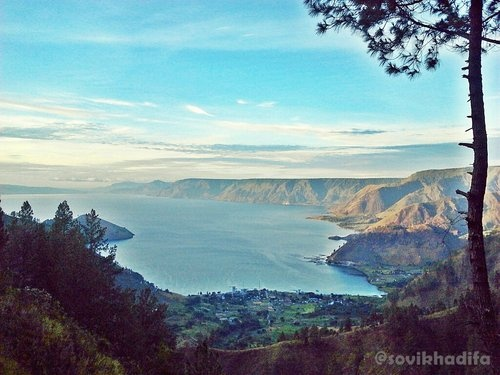 View of Toba Lake from Tongging, Sumatera Utara, Indonesia.
