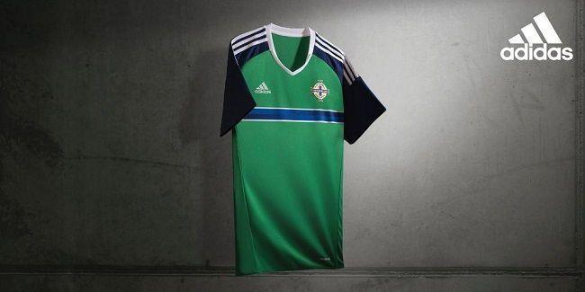 Stroje Adidas Irlandia Północna Home Euro 2016 #euro #euro2016 #adidas #soccer #sports #football #pilkanozna