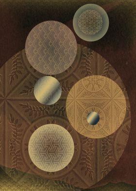 #print on metal Abstract #abstract globe universe fantasy vintage #design #art #homedecor