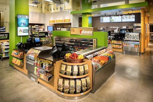 Dublin, Ohio-based WD Partners were recently tasked with updating the logo and store design , 7-Eleven.