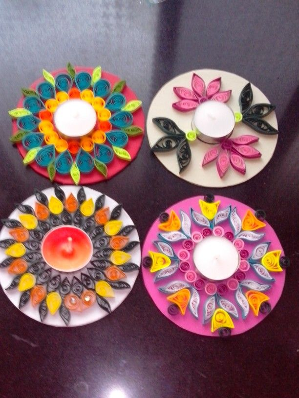 Quilled candle holders