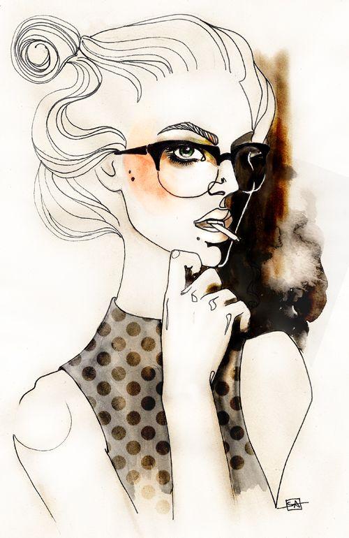 Sara Ligari #illustration | saraligari.it/  ****lovelovelove minimal detail vs extreme rendering mix