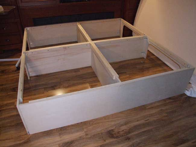 Easy instructions to build a king size storage platform ...
