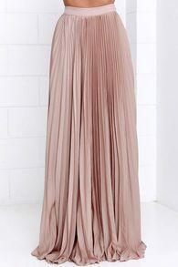 Blush Pleated Maxi Skirt - DHTSinstashop Boutique  - 2