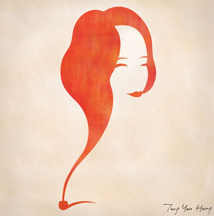 The woman wafting from the pipe. Beautiful orange smoke!  The Art of Negative Space10 – Fubiz