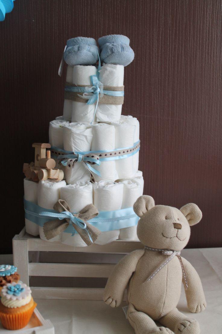 Un Diapers cake crée et imaginé par Mon pus bel évènement