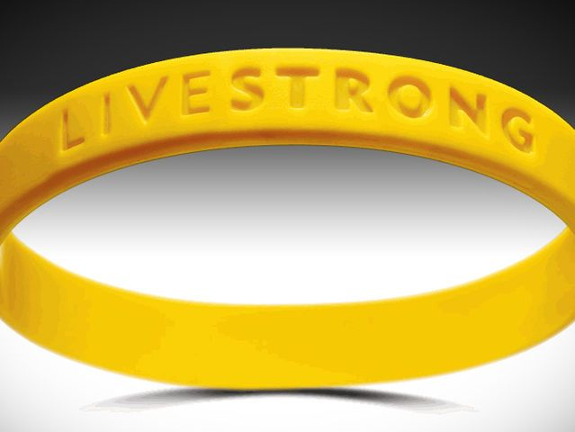 Livestrong bracelets were worn by men and women in the 2000's. The bracelets were made popular by Lance Armstrong in support for cancer research. The bright yellow bracelets were made of a flexible silicone.