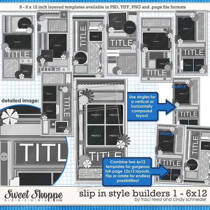Slip In Style Builders 1 - 6x12 by Traci Reed and Cindy Schneider