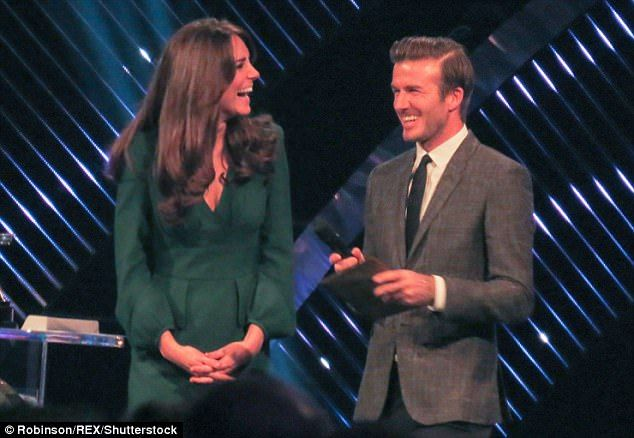 AND THE WINNER IS... ME, OF COURSE: David, a previous winner of BBC Sports Personality of the Year in 2001, teamed up with the Duchess of Cambridge to present the awards in Britain's Olympic Year, 2012. Cycling star Bradley Wiggins was the winner.
