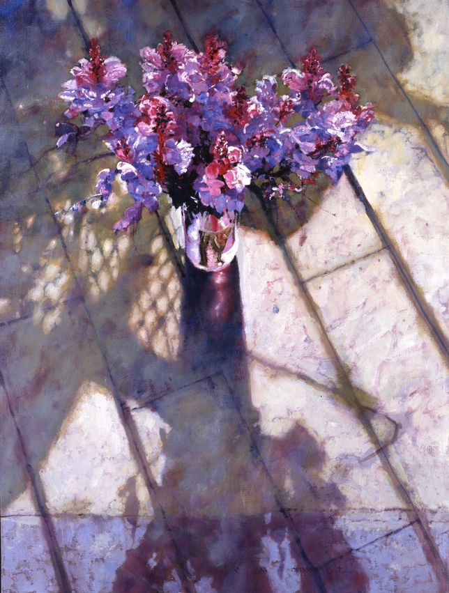 """Purple Snapdragons"" - Michael Dudash - 45×34cm"