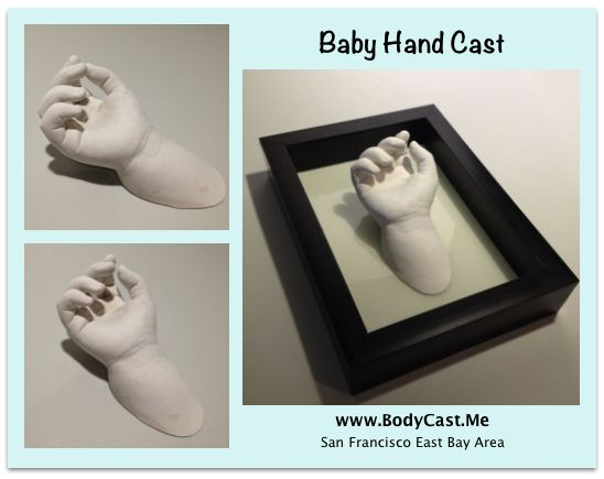 2 year old baby hand cast. #EricTheSculptor