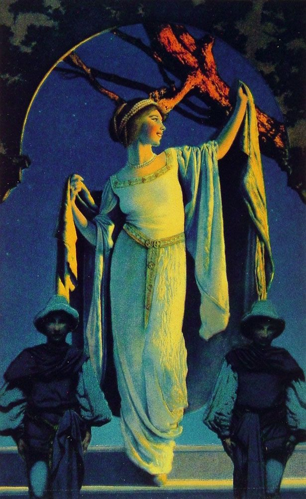Spirit of the Night by Maxfield Parrish for Edison Mazda, 1919