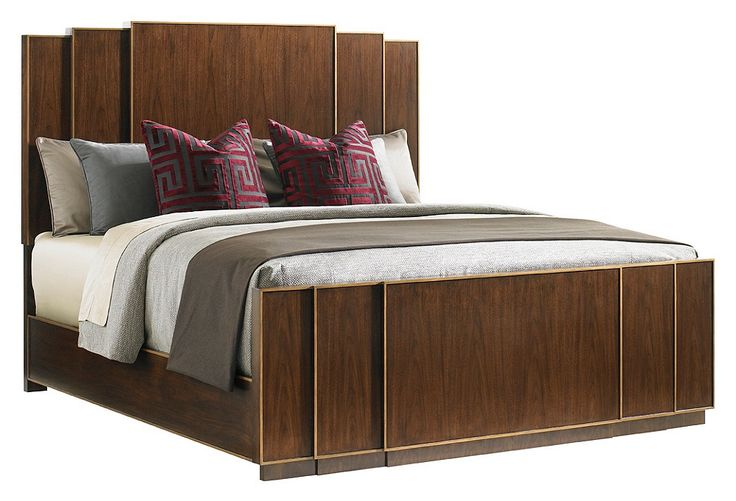 Fairmont Panel Bed Walnut Chic Sophisticated One Kings Lane Interior Furniture Cabinet