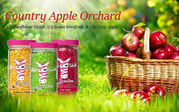 Pink zebra sprinkles country apple orchard