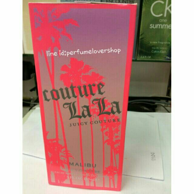 Couture LaLa Juicy Couture Malibu 150ml กล่องเทสเตอร์เหมือนกล่องขาย ต่างกันแค่ไม่ซีล เท่านั้นเองค่ะ ลดมาพิเศษมากๆ sale 1899 บาทค่ะ  กลิ่นหอมหวาน น่ารัก สดใส มากค่ะ Line id:perfumelovershop