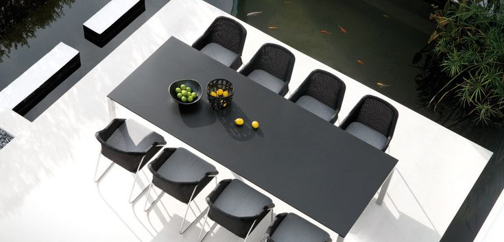 Stunning furniture designed with modern clean lines in a Belgian style by Manutti. #furniture #design