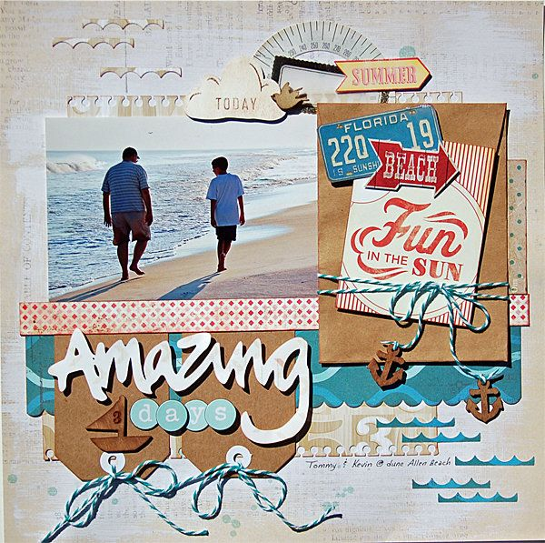#papercraft #scrapbook #layout  Amazing Days *American Crafts*