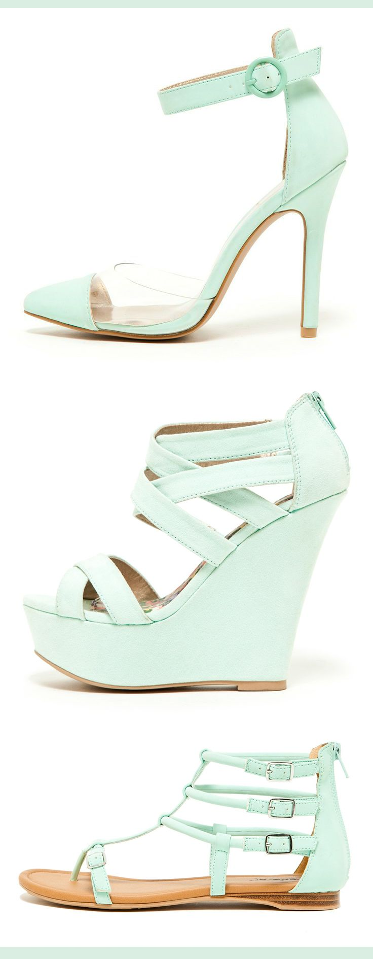 #Mint Heels, Wedges, and Gladiators / All Under $20.00