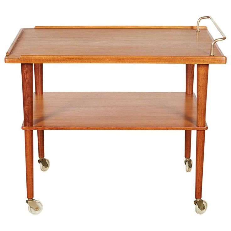 Mid Century Bar Cart | From a unique collection of antique and modern bar carts at https://www.1stdibs.com/furniture/tables/bar-carts/
