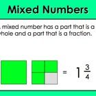 Objective: We will convert mixed numbers to improper fractions and improper fractions to mixed numbers. PowerPoint lesson includes objective, langu...