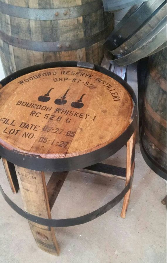 Sale Full Bourbon Whiskey Barrel Head Table Bon Idee In 2018