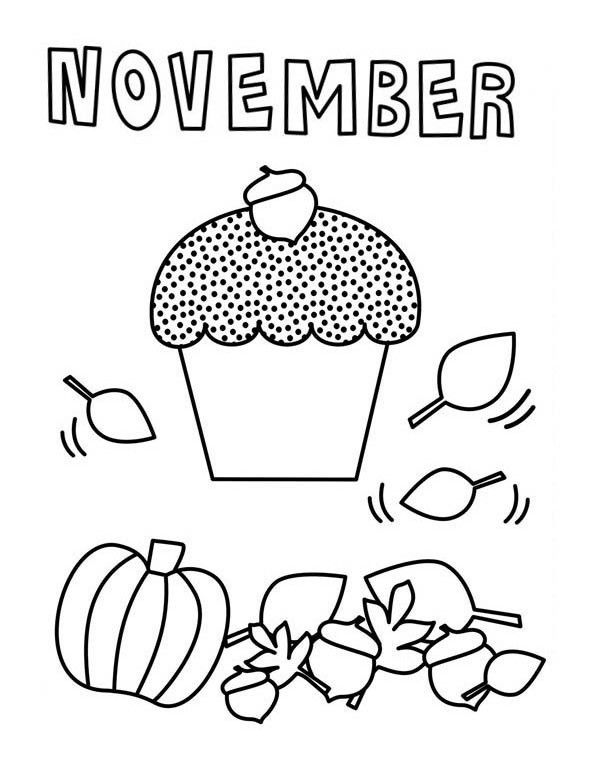 November Coloring Pages : november, coloring, pages, November, Coloring, Pages, Children, Thanks., Plentiful, Harvest, Including, Flower…, Cupcake, Pages,