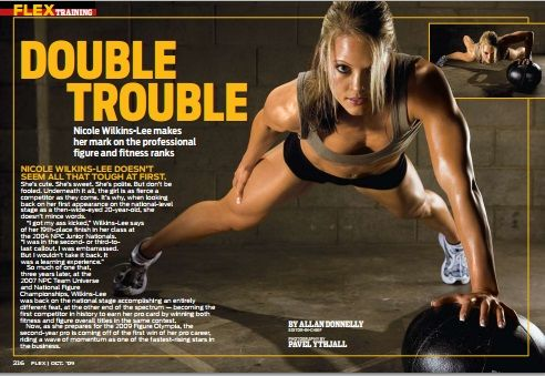 """Double Trouble"" - Nicole Wilkins Lee makes her mark on the professional figure and fitness ranks"