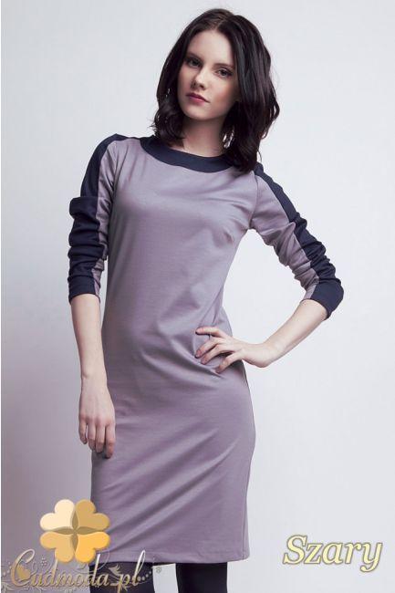 Taliowana damska sukienka midi z rękawami 7/8 marki Lanti.  #cudmoda #ubrania #moda #styl #sukienki #clothes #dresses