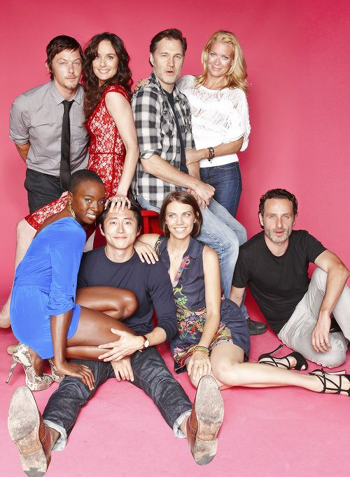 Norman Reedus, Sarah Wayne Callies, David Morrissey, Laurie Holden, Andrew Lincoln, Lauren Cohan, Steven Yeun and Danai Gurira are photographed for TV Guide Magazine on July 13, 2012 on the TV Guide Magazine Yacht in San Diego, California.