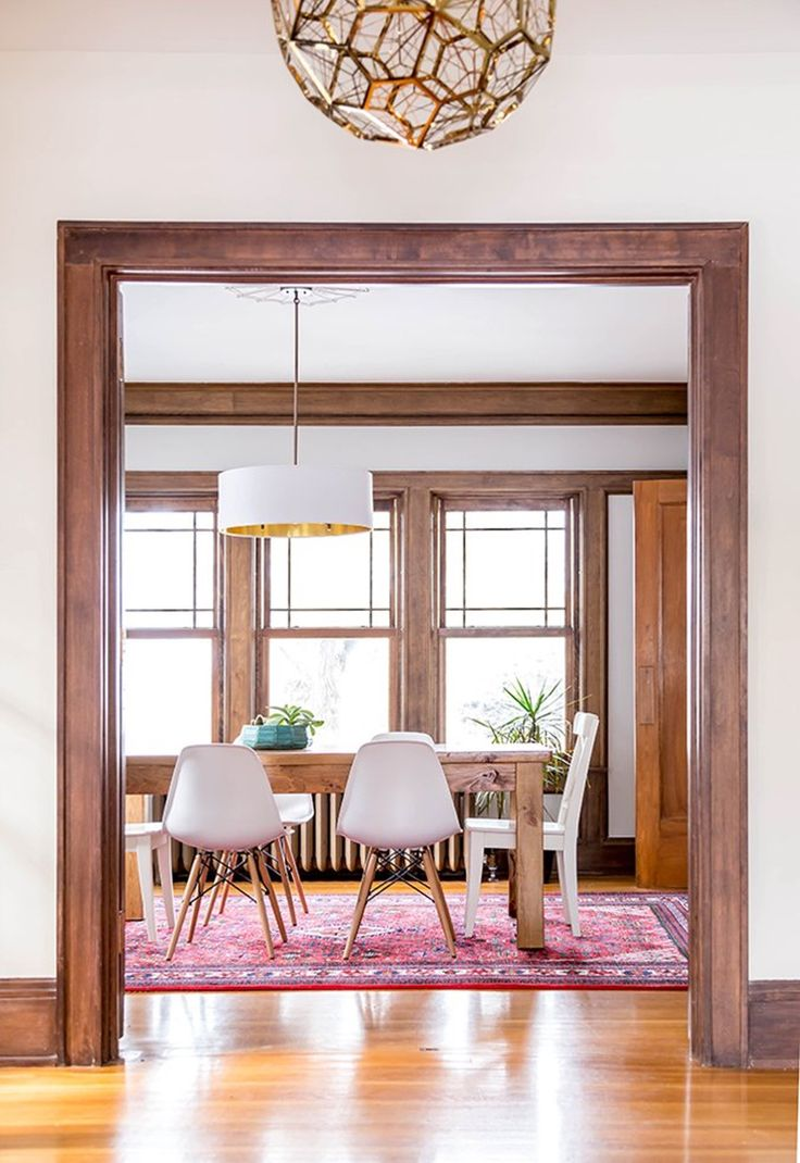Dining room with new gleaming hardwood floors vision pointe homes - 37 Best Dark Table Light Chairs Images On Pinterest Home Kitchen And Dining Room Design