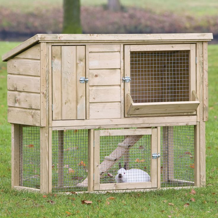 This wonderful rabbit hutch provides your pet with enough ...